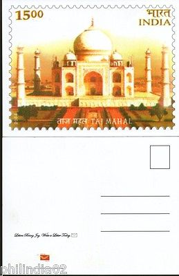 India 2011 Taj Mahal Architecture Jammu & Kasmir Stamp Exhibition Stamp Card