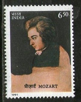 India 1991 Mozart Austria Composer Music Phila-1316 MNH