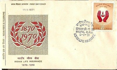 India 1971 Indian Life Insurance Phila-529 FDC