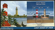 India 2012 Lighthouses of India Architecture M/s on Private FDC  # 7303