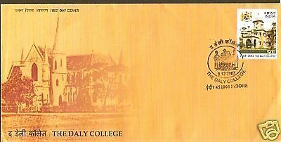 India 2007 The Daly College  Phila-2450 FDC+Blank Folder