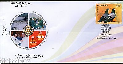India 2013 Rotary International District INDPEX Dam End Polio Health Sp. Cover