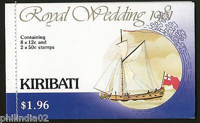 Kiribati 1981 Lady Diana & Prince Charls Royal Wedding $ 1.96 Booklet