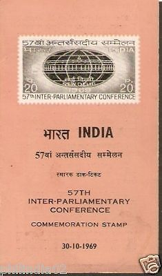 India 1969 Inter Parliamentary Conference Phila-600 Cancelled Folder