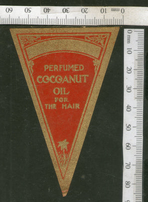 India Vintage Trade Label Cocoanut Essential hair Oil Label # LBL100 - Phil India Stamps