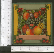 India Vintage Trade Label Grapes Banana Mango Strawberry Fruits Blank Label # LBL102 - Phil India Stamps