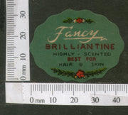 India Vintage Trade Label Fancy Essential hair Oil Label # LBL115 - Phil India Stamps