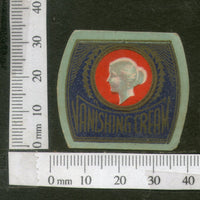 India Vintage Trade Label Vanishing Cream Label Women # LBL116 - Phil India Stamps