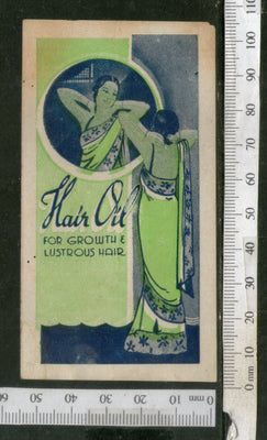 India 1950's Women Hair Oil Printed Blank Vintage Label # LBL130