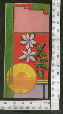 India 1950's Flowers Hair Oil Printed Vintage Label  # LBL136