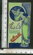 India 1950's Women Amla Hair Oil Printed Vintage Label # LBL142