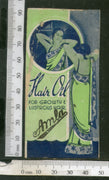 India 1950's Women Amla Hair Oil Printed Vintage Label # LBL147
