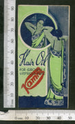 India 1950's Women Kamni Hair Oil Printed Vintage Label # LBL148