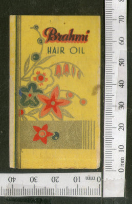India 1950's Brahmi Hair Oil Printed Vintage Label # LBL149