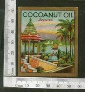 India 1950's Coconut Hair Oil Germany Printed Vintage Label # LBL153