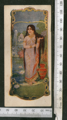 India 1950's Women Hair Oil Printed Vintage Label # LBL157