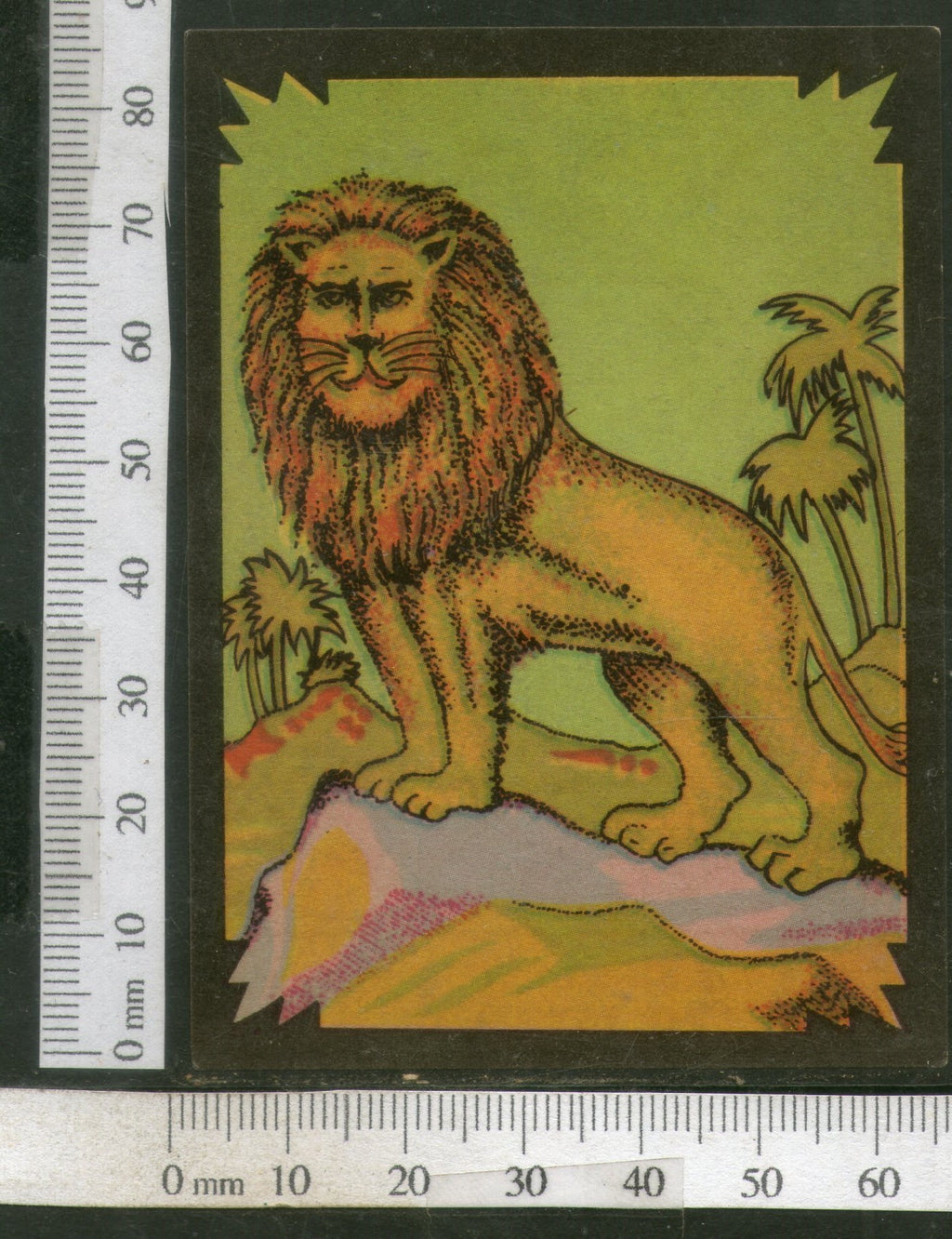 India Vintage Trade Label Lion Blank Label Wildlife Animal # LBL69 - Phil India Stamps