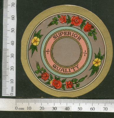 India Vintage Trade Label Superior Quality Label Rose Flower # LBL75 - Phil India Stamps