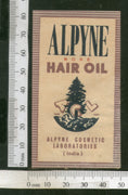 India Vintage Trade Label Alpyne Rose Essential hair Oil Label # LBL76 - Phil India Stamps