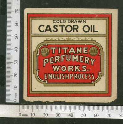 India Vintage Trade Label Cold Drawn Castor Oil Label # LBL92 - Phil India Stamps