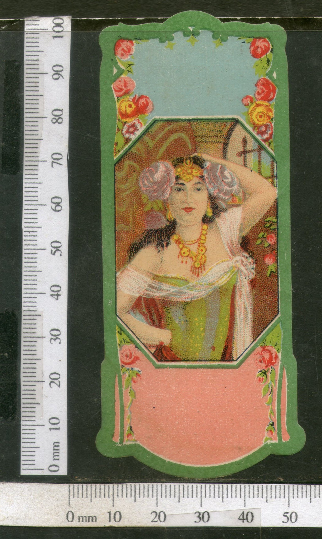 India Vintage Trade Label Women Blank Essential Hair Oil Label # LBL93 - Phil India Stamps