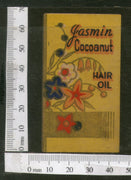 India Vintage Trade Label Gasmin Cocoanut Essential hair Oil Label # LBL94 - Phil India Stamps