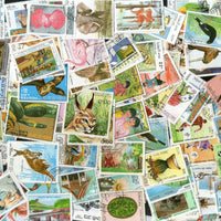 Laos 210 Diff. Used Stamps on Painting Wildlife Animals Sports Olympics Birds Fish Flora Fauna - Phil India Stamps