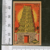 India 1950's Temple Brand Match Box Label Hindu Mythology # MBL147 - Phil India Stamps