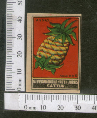India 1950's Pineapple Fruit Brand Match Box Label # MBL014 - Phil India Stamps