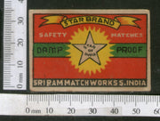 India 1950's Star Brand Match Box Label # MBL196 - Phil India Stamps