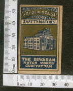 India 1950's Golden House Brand Match Box Label Architecture # MBL250 - Phil India Stamps