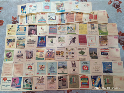 India 175 diff Meghdoot Post Cards on Gandhi Aids Malaria Cancer Health Banking Aids All Mint