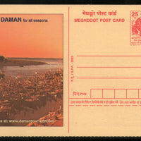 India 2003 Daman for all Seasons Tourism Lighthouse Meghdoot Post Card Stationary # 19 - Phil India Stamps