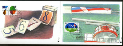Netherlands 1993 Stamp Day Dove Sc 846-47 Set of 2 Max Cards # 10 - Phil India Stamps