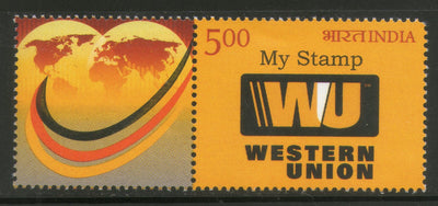 India 2016 Western Union Money Transfer Economic My stamp MNH # M46 - Phil India Stamps