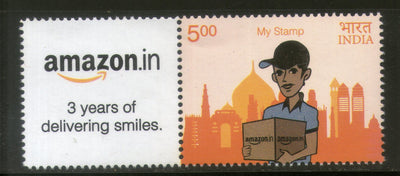 India 2016 Amazon.in 3 Years of Delivering Smiles Taj Mahal My stamp MNH # M47 - Phil India Stamps