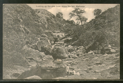 India Looking up the glen from above the fall Matheran View / Picture Post Card Mint # 52