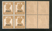 India Patiala State 1An3ps KG VI Postage Stamp SG 107 / Sc 106 BLK/4 MNH - Phil India Stamps