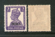 India Patiala State 3As KG VI Postage Stamp SG 110 / Sc 109 Cat £8 MNH - Phil India Stamps