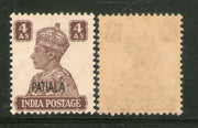 India Patiala State 4As KG VI Postage Stamp SG 112 / Sc 111 Cat £13 MNH - Phil India Stamps