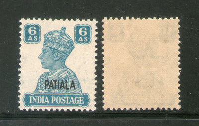 India Patiala State 6As KG VI Postage Stamp SG 113 / Sc 112 Cat £6 MNH - Phil India Stamps