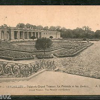 France 1919 VERSAILLES - Grand Trianon Palace & Peristyle Garden View Card India