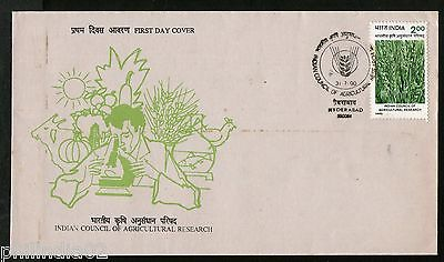 India 1990 Indian Council of Agriculture Research Phila-1236 FDC+Blank Folder