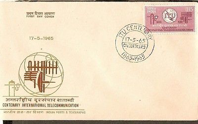 India 1965 ITU Telecommunication Phila-416  FDC