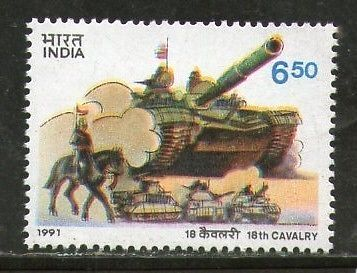 India 1991 18th Cavalry Regiments Military Phila-1313  MNH