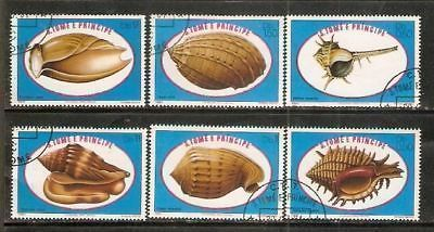 St. Thomas & Prince Is 1981 Sea Shells Coneshe 6v Cancelled