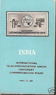India 1965 ITU Telecommunication Phila-416 Cancelled Folder