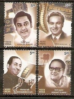India 2003 Golden Voices of Yesterday Singers Cinema Film Music Phila-1971a MNH