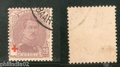 Belgium 1914's King Albert I Red Cross Surcharged Sc B27 Used High Cat. # 1193