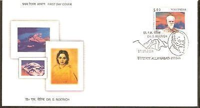 India 2004 Dr. Svetoslav Roerich Phila-2088 FDC + Blank Folder